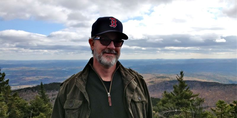 2013. Dan at the top of Mount Kearsarge, Warner, NH.